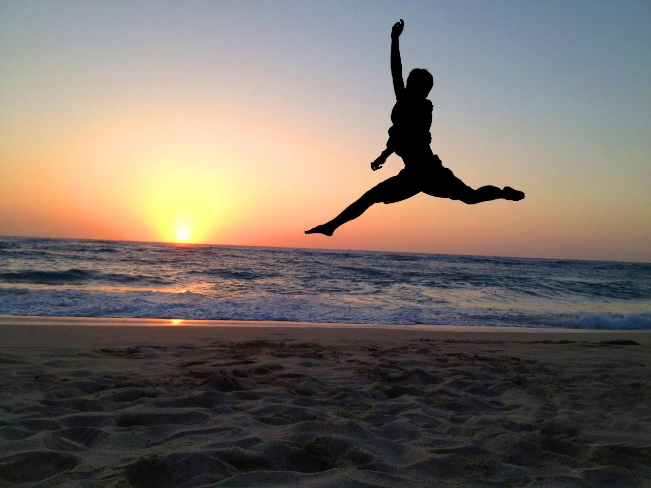 頑張るバレエダンサー